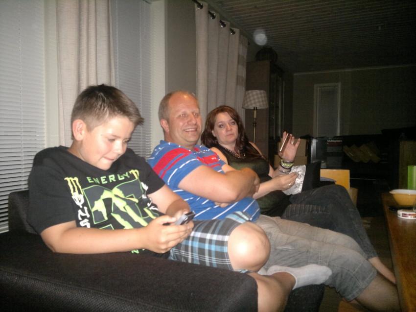 Besøk av (fra venstre) Jesper, Geir og Trine i sommer :-)