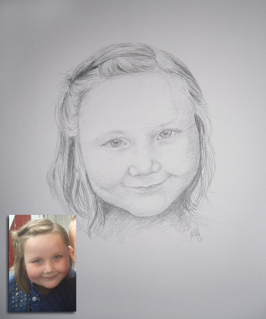 Dette portrettet ble tegnet som en gave til morens 40 årsdag :-) Tegnet med blyant.