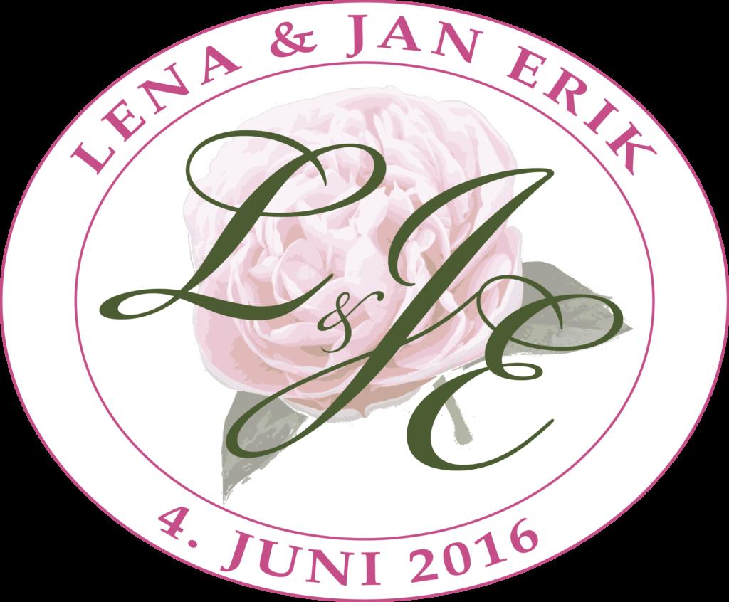 monogram bryllup